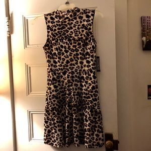 NY & Co. Leopard Fit & Flare Dress